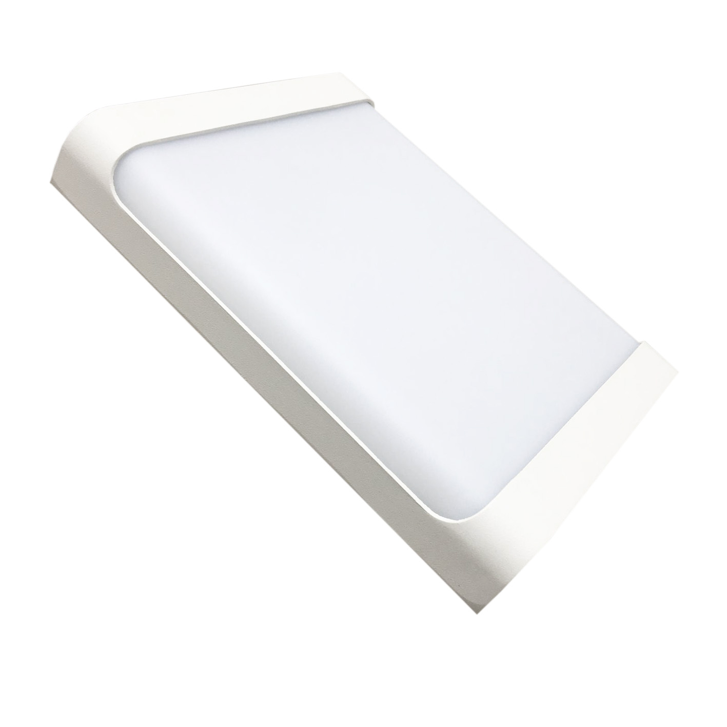 La lampe de mur de LED 18w rectangle finition blanc IP44 B71-18W