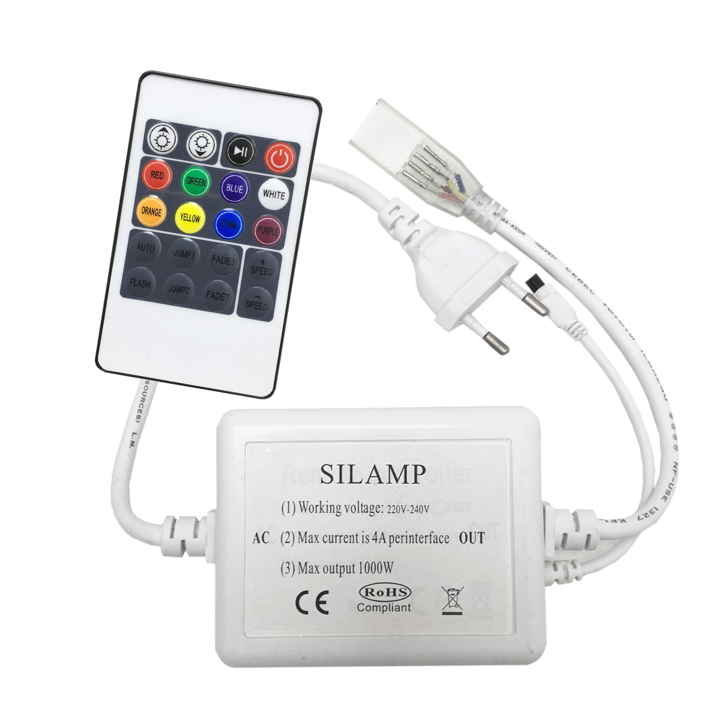 Controller and remote control RGB 220v for strip 220v rgb T13-RGB-220V