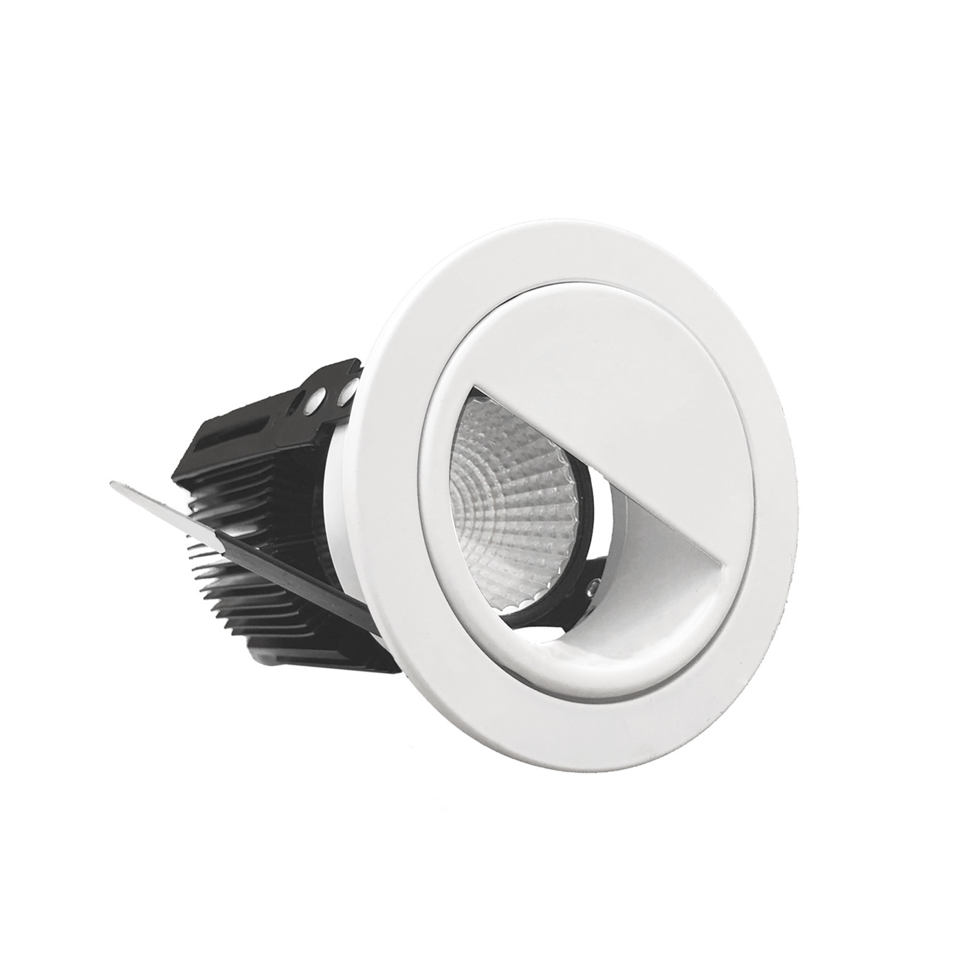 -Downlight empotrable LED de 15W adaptador de haz de luz de una media luna en forma incluyendo Fi1-A15-15W
