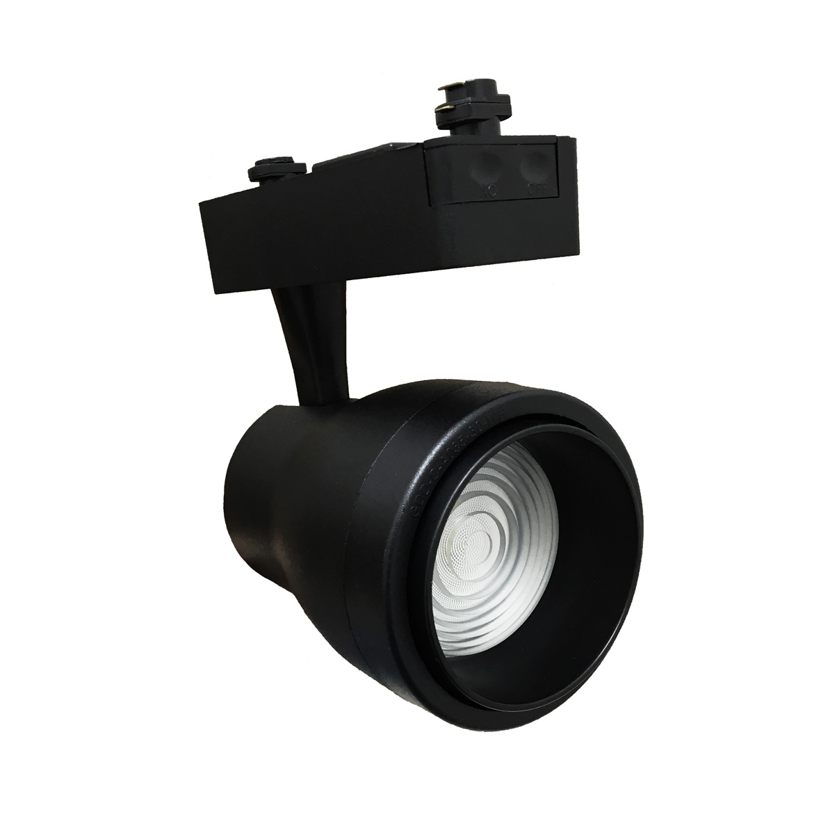 LED spotlight rail, single-PHASE 15w, adjustable cone of light with adjustable BLACK