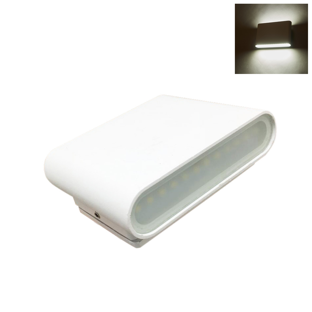 Lamp led double beam light 10w WHITE applique thin wall 220v