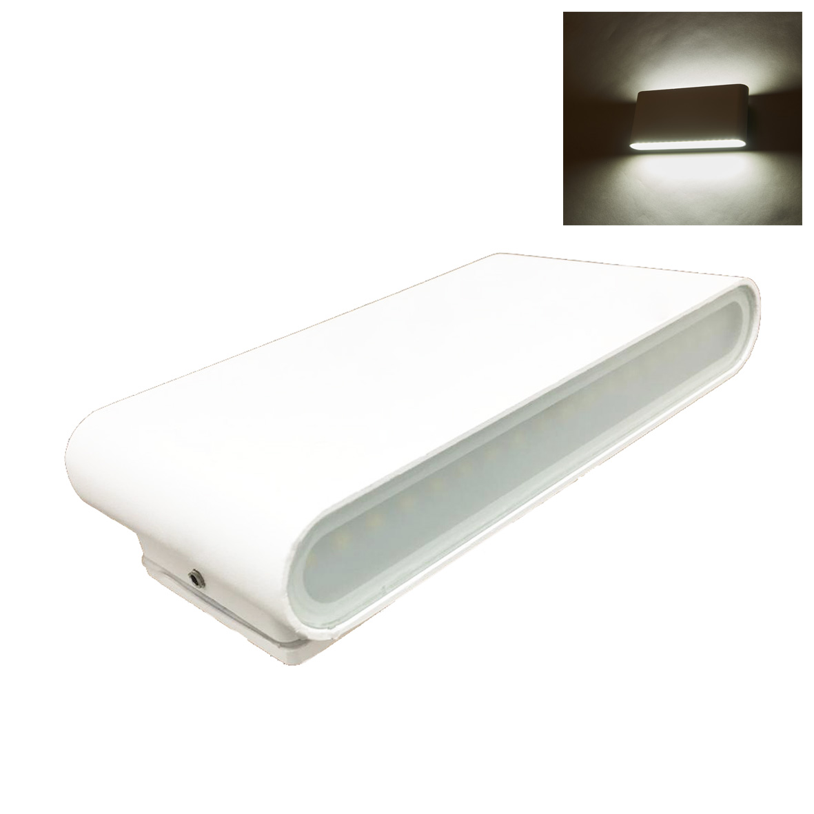 Led lamp with double light beam 16w WHITE applique thin wall 220v