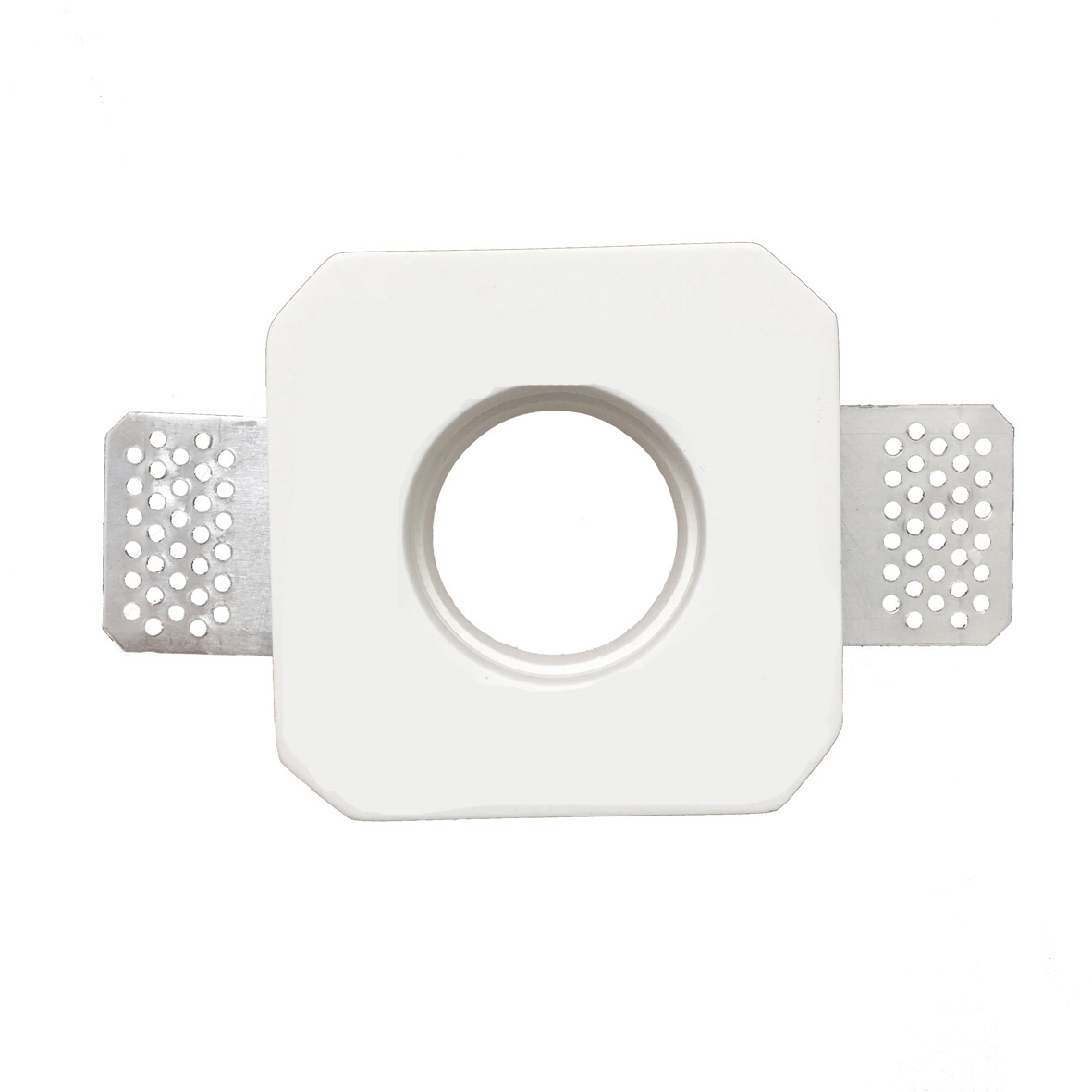 Faretti Incasso Di Gesso portafaretto in gesso a scomparsa quadrato lato 9,3cm per lampadine led gu10