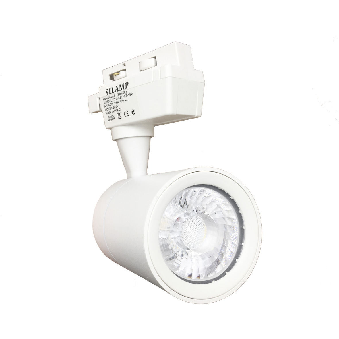 Faretto LED Bianco a binario 15W Monofase faro super compatto COB FB-26-15W