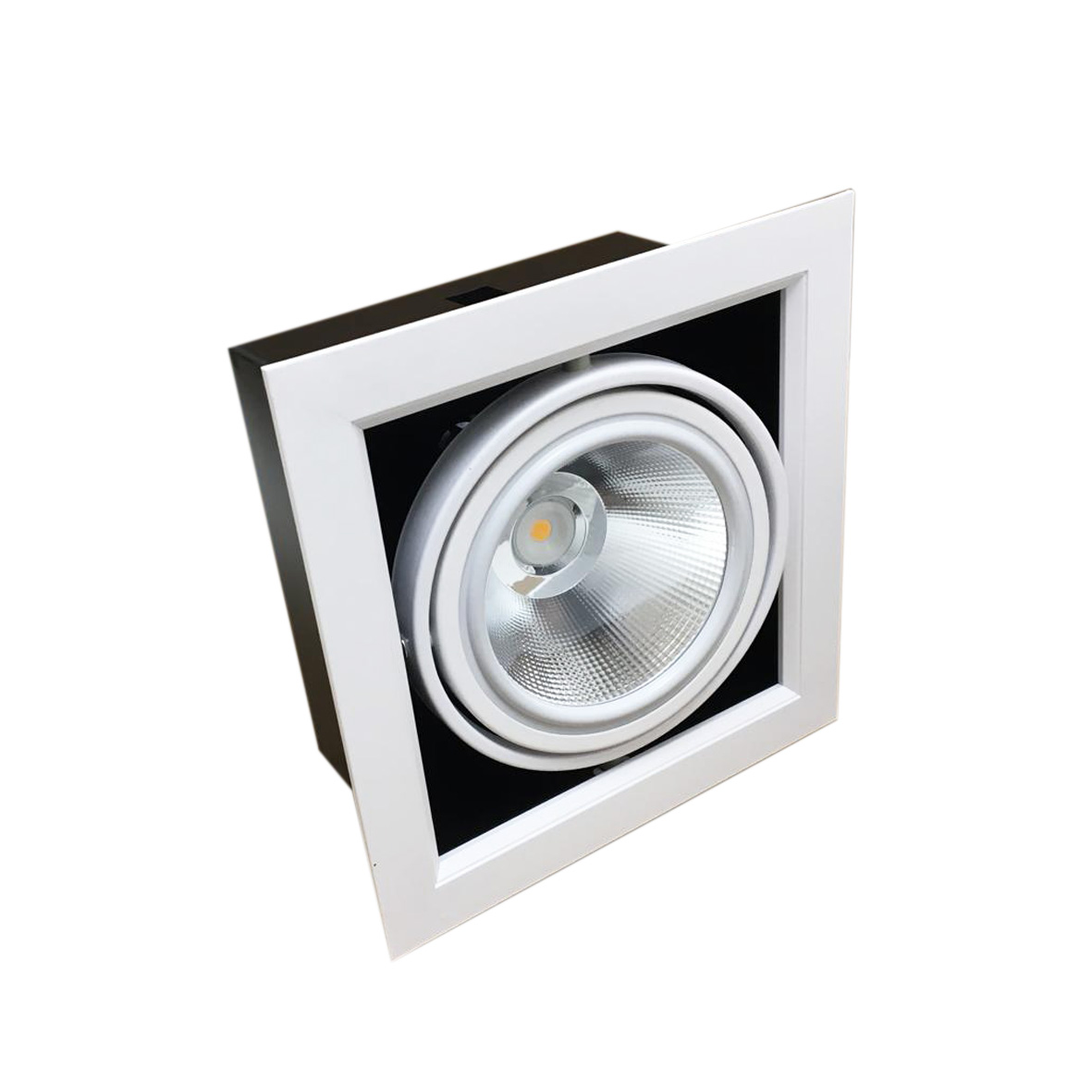 Portafaretto AR111 Ajustable 20w Total de 1 Foco LED Anillo Silamp