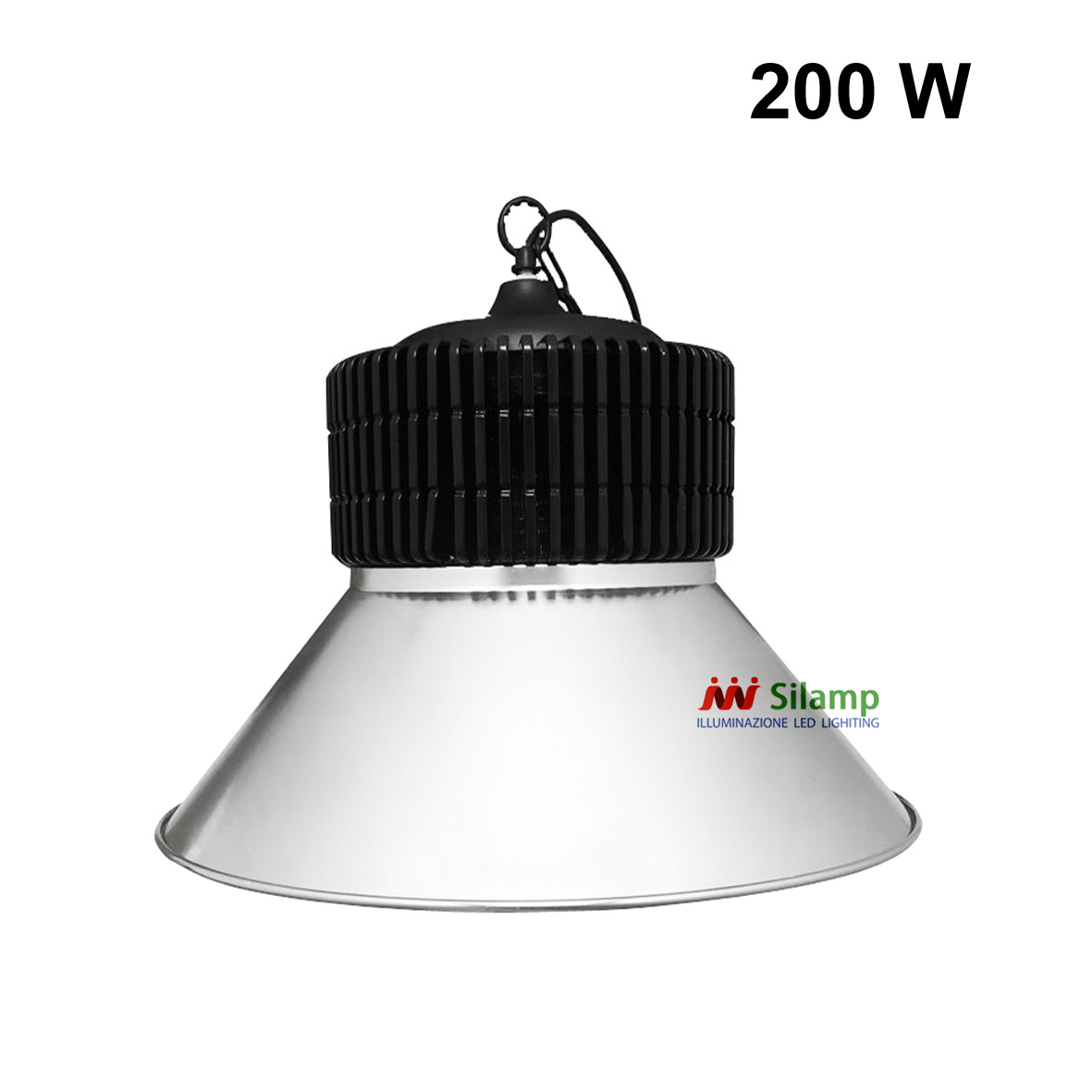 Headlight Projector Industrial LED 200w cover, bell shaped, SILVER led
