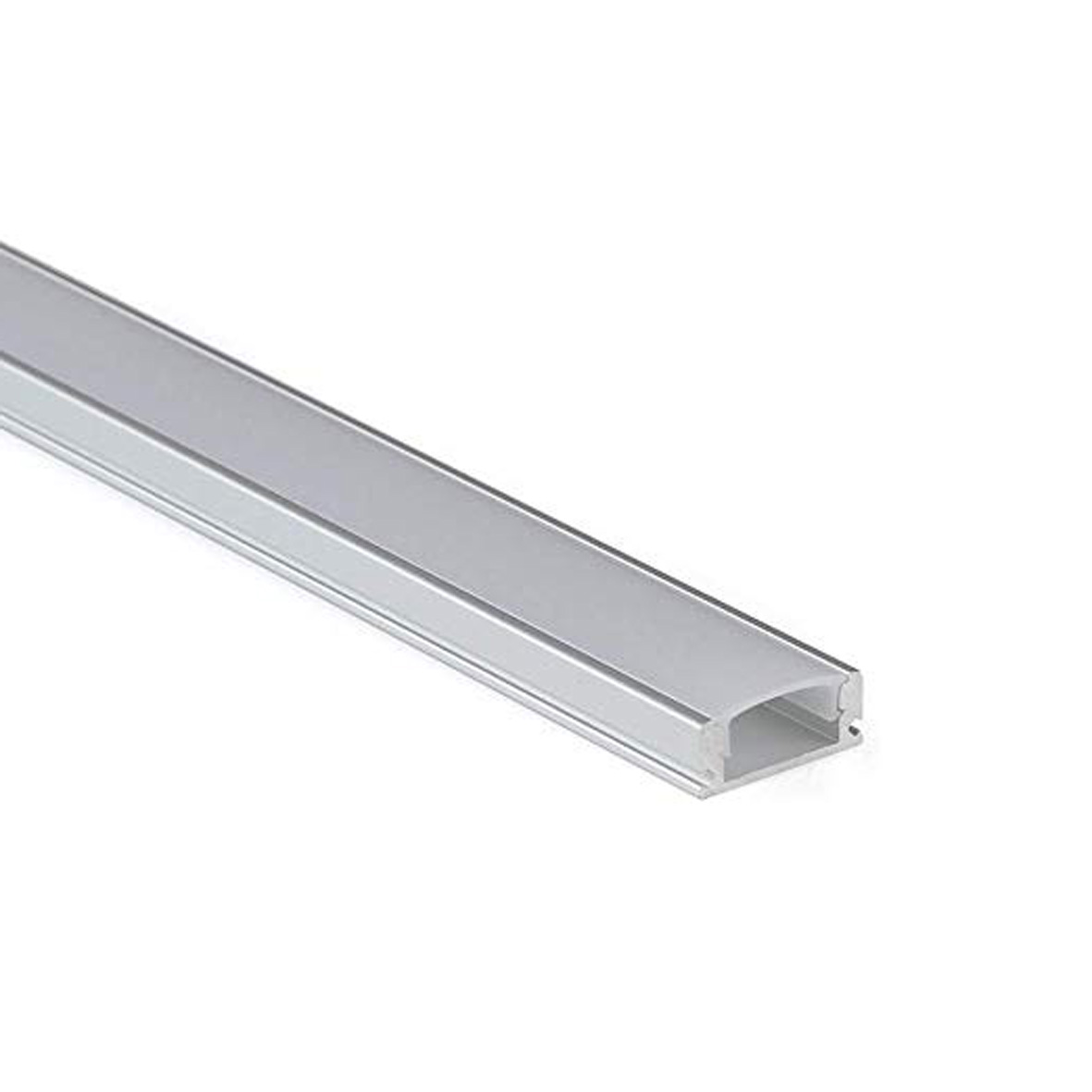 Aluminum profile, Flat-12mm, with inserts, 2m for led Strip BAR-15-2M