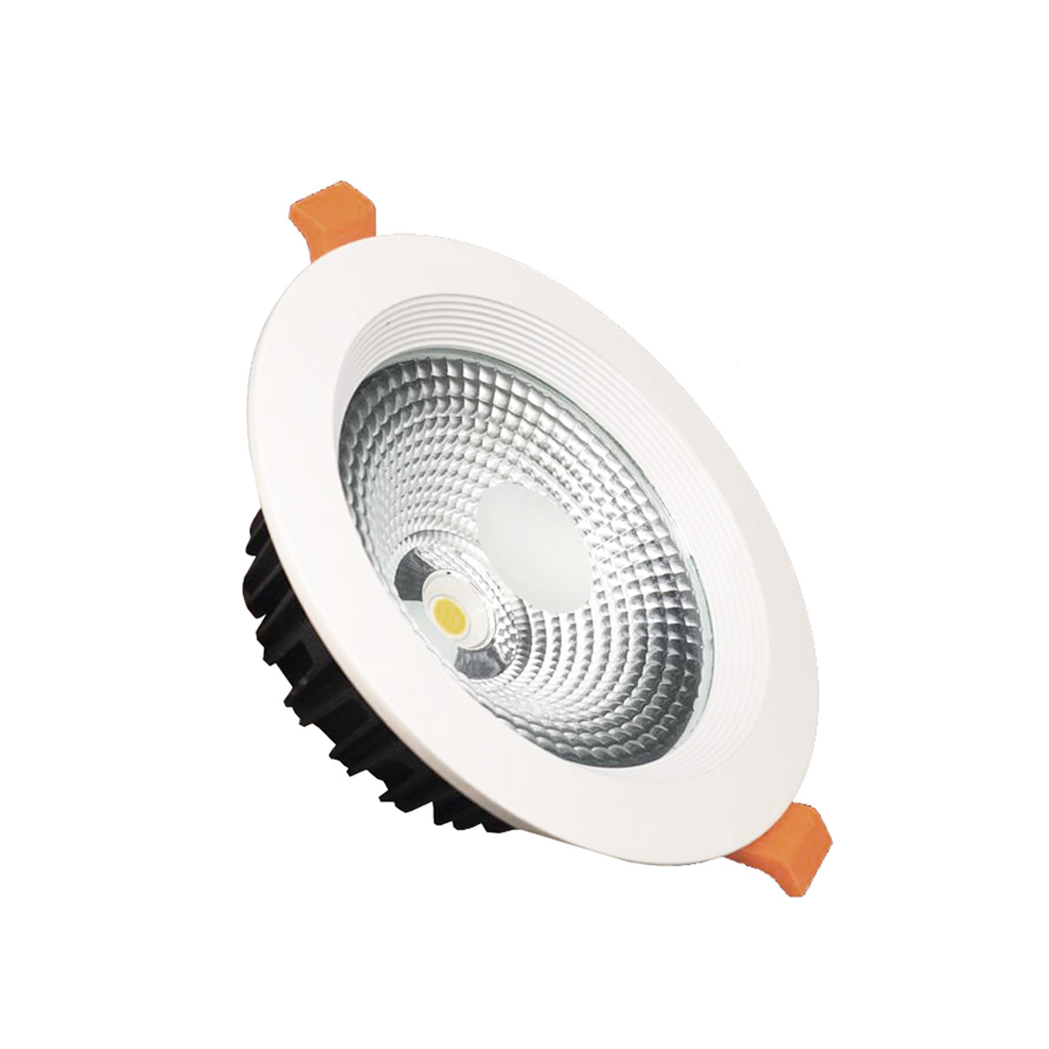LED spotlight recessed round 15W diameter 140mm cob Powerful