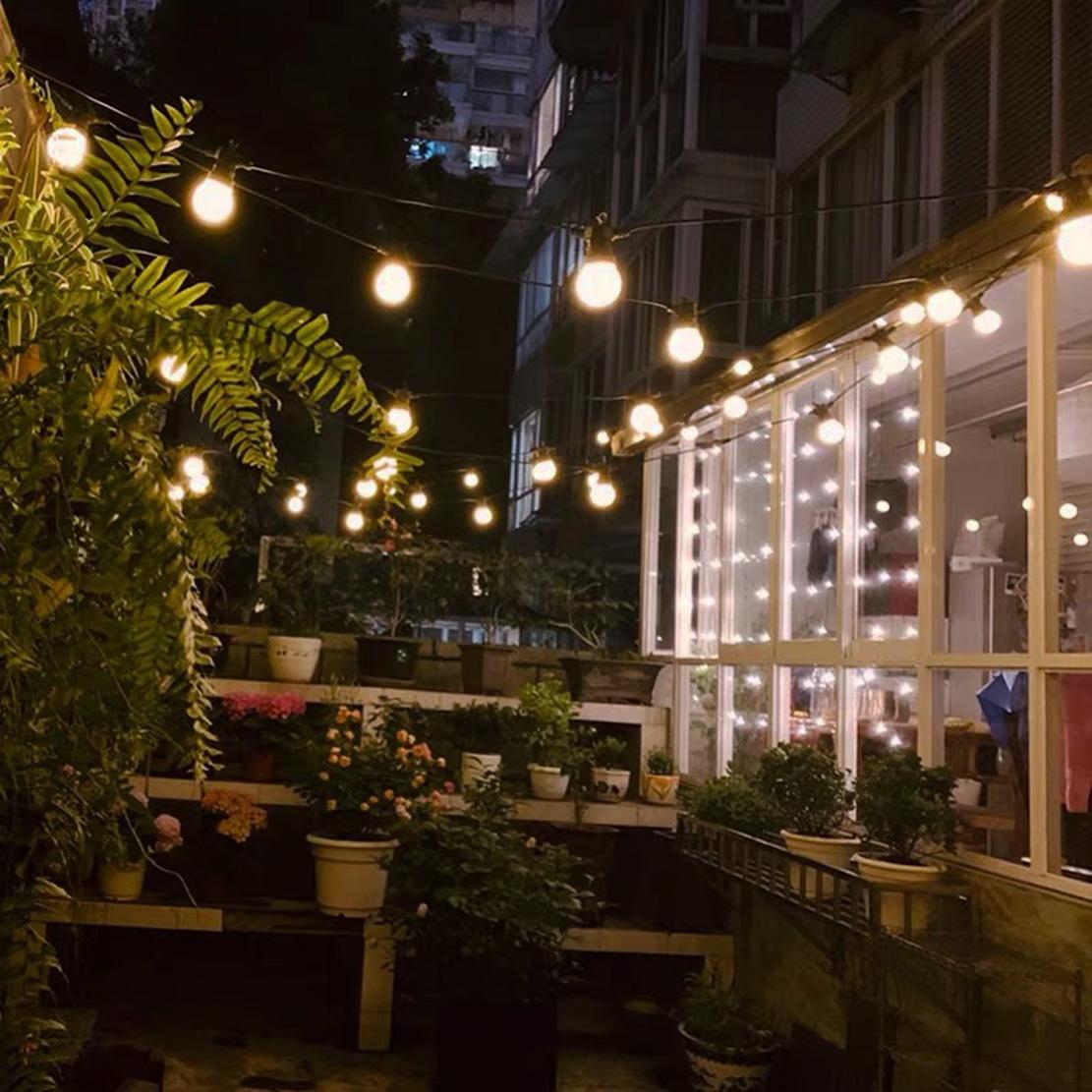 Catena Luminosa Per Foto catena luminosa a 10 portalampada e27 per decorazioni festive ip65 esterno