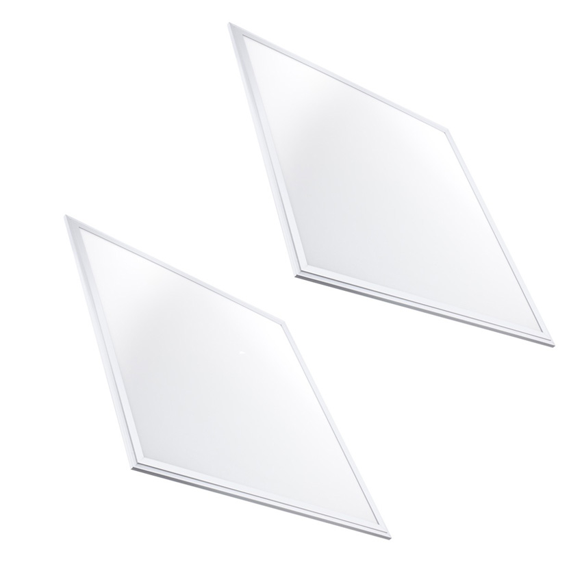 2 Panneaux, slim Led 60x60 48W Bordure blanche Driver de Led slim