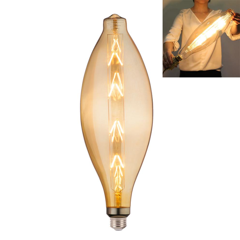 Lampadario Con Strisce Led lampada led 8w attacco grosso e27 design anfora ct120 con filamento l90-8w