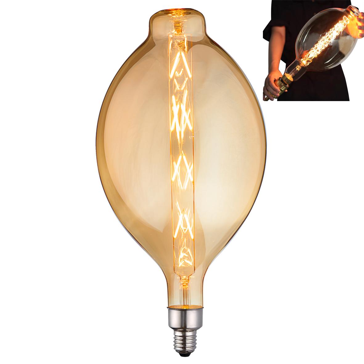 Lampadario Con Strisce Led lampada led 8w attacco grosso e27 design tulipano bt180 con filamento l98-8w
