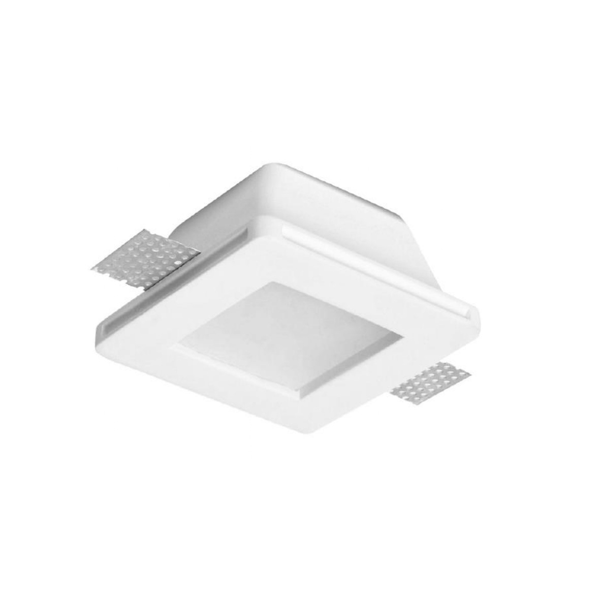Portafaretto plaster concealed square side 12cm with glass Fi-CHALK-15