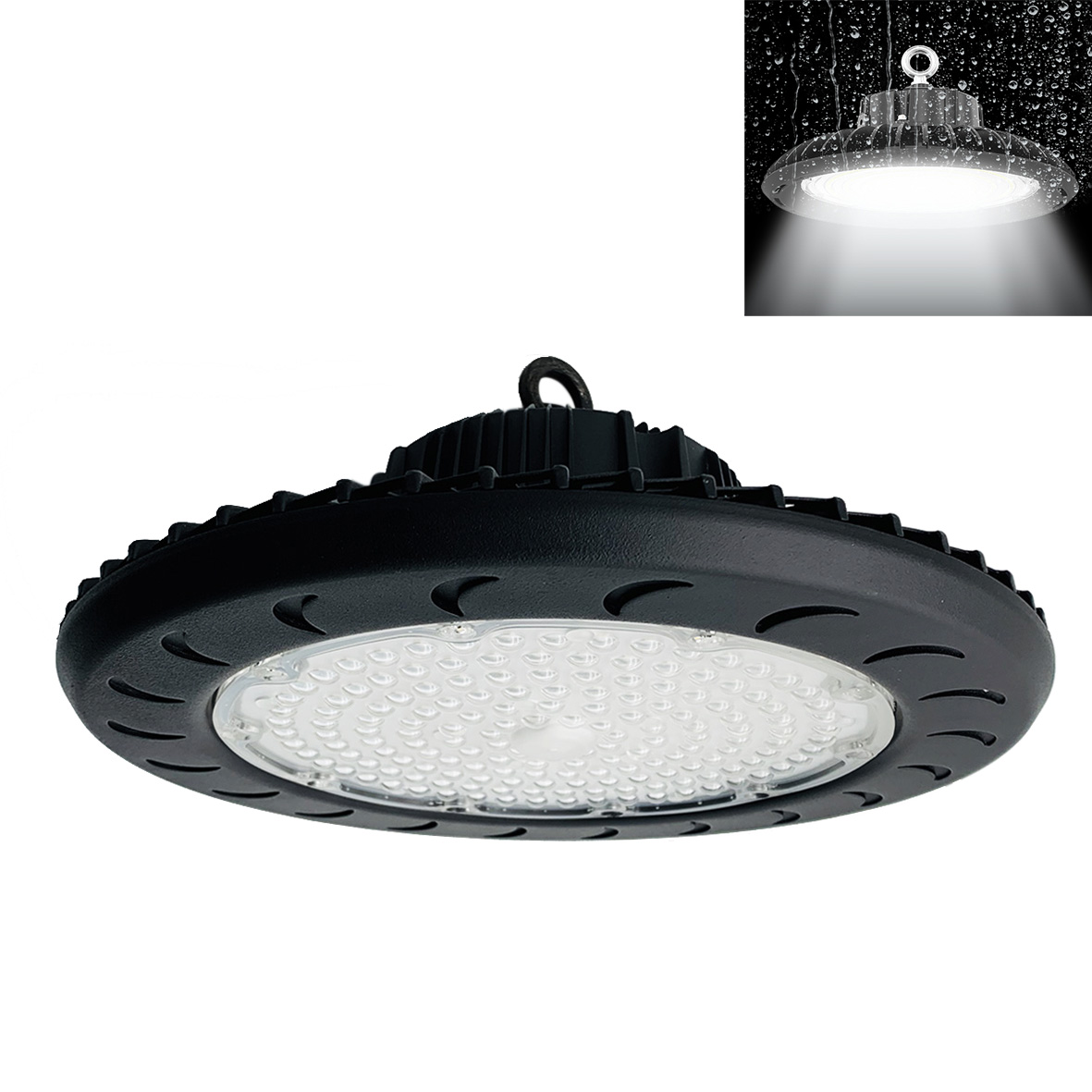Phare Led halls Industriels 100W Disque Rond bell UFO led FE83-100W
