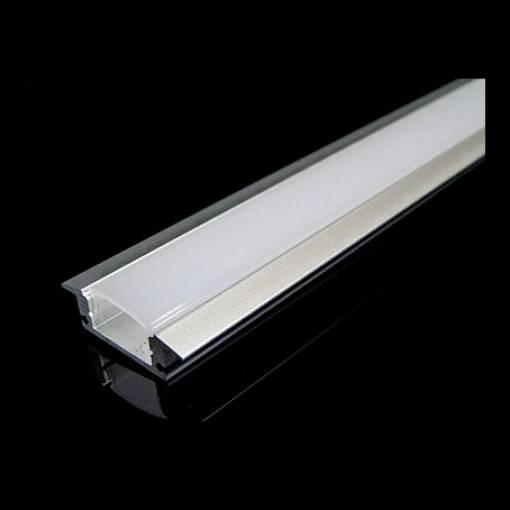 Strisce Led Incasso.Profilo Alluminio Incasso 1m Per Striscia Led Barra 4 1m