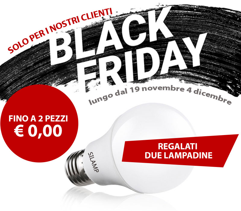 Blackfriday, Lampadine a 0 euro, black friday