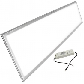 Led panel 120x30 48W silver gray thin Driver included