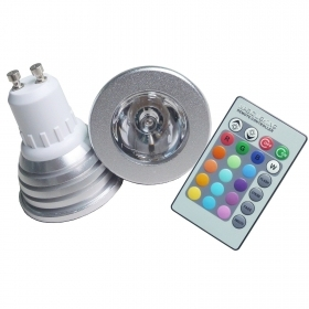 Spotlight GU10 3w LED RGB color changing spotlight RGB
