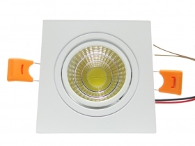 Spotlight LED recessed Square 3W Cob led spotlight ceiling with Led power supply