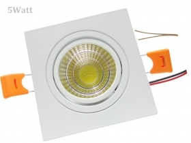 Faretto LED incasso Quadrato 5W Cob faro led controsoffitto con alimentatore Led