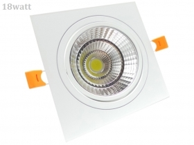 Faretto LED incasso Quadrato 18W Cob faro led controsoffitto con alimentatore Led
