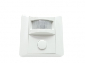 Motion sensor with a twilight presence detector 120° recessed