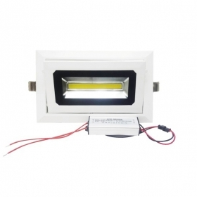 Faro led da incasso 30w cob lungo con driver led inclus