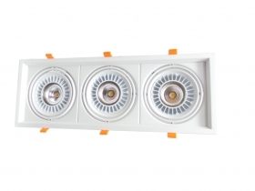 Faretto Led da incasso 60W 3x20w ar111 Faro led CoB incasso Orientabile
