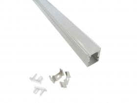 1M Profilo per Striscia led smd BARRA Alluminio Rigido COPERTURA Opaco 5