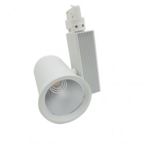 Faretto LED a binario 35W Trifase Cob Faro Led Binario versione Bianco