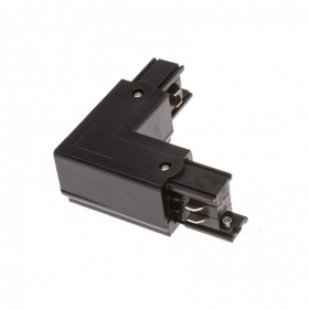 Corner Connector Rail Three-Phase Led Color Black Joints