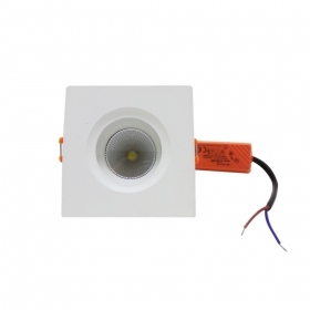 LED spotlight recessed 5W squa