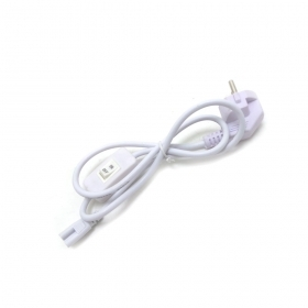 Power cable with switch jack to 3pin for t5 tube 220v white