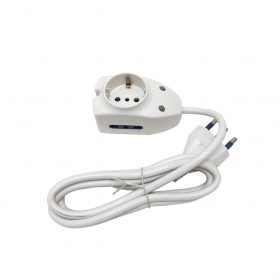 Mini Power Strip 3 Places 1 Ou