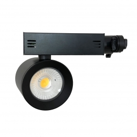 Faretto LED a binario 30w monofase illuminazione a binario led nero faro COB