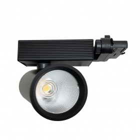 Faretto LED a binario 35W Trifase Cob Faro Led NERO FB-7-35W