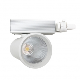 LED spotlight track-35W three-Phase Cob Led spotlight is the Binary version White