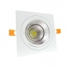 Faretto LED incasso Quadrato 24W Cob faro led controsoffitto con alimentatore Led