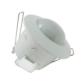 Motion sensor with a twilight presence detector 360° flush mounted