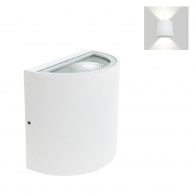 Led lamp with double light sconce 10W in-wall 230v COB led
