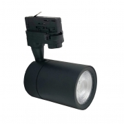 Faretto LED Nero a binario 30W Trifase faro super compatto COB FB-21-30W