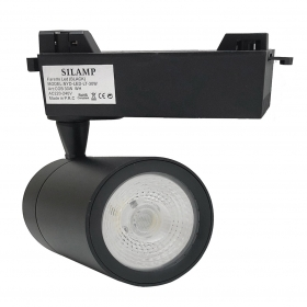 LED spotlight Black rail, 30W single-Phase faro super compact COB-FB-24-30W