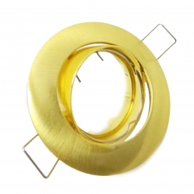 Spotlight-recessed Adjustable Brushed Gold Farettino Spot Ring Gold