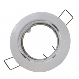 Adjustable recessed spotlight Farettino Spot steel ring recessed GU10 White