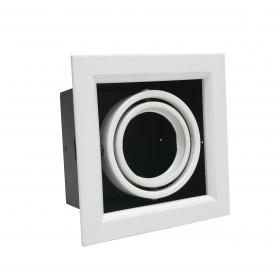 Spotlight recessed square GU10 MR16 GU5.3 Adjustable led bulb Holder Ring