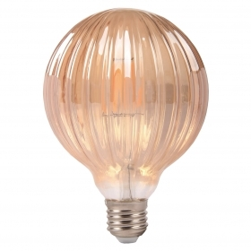 Light bulb, Vintage LED filament E27 6W ball amber eleg