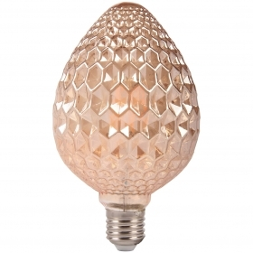 Light bulb, Vintage LED filament E27 6W amber elegant S