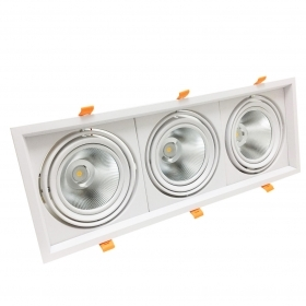 From 3 Adjustable recessed spotlight led ar111 ring holder white finish