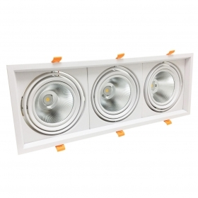 AR111 Ring portafaretto adjustable 60w 3x20w complete with 3 LED spotlights