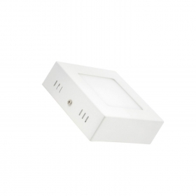 Plafoniera LED 6w 120x120mm applique quadrata da muro, soffitto